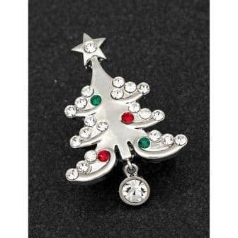 Sparkling Christmas Tree Brooch